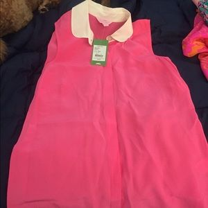 Silk NWT Lilly top with collar